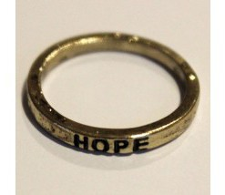 Rustic Make A Wish Stackable Rings - Hope