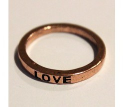 Rustic Make A Wish Stackable Rings - Love